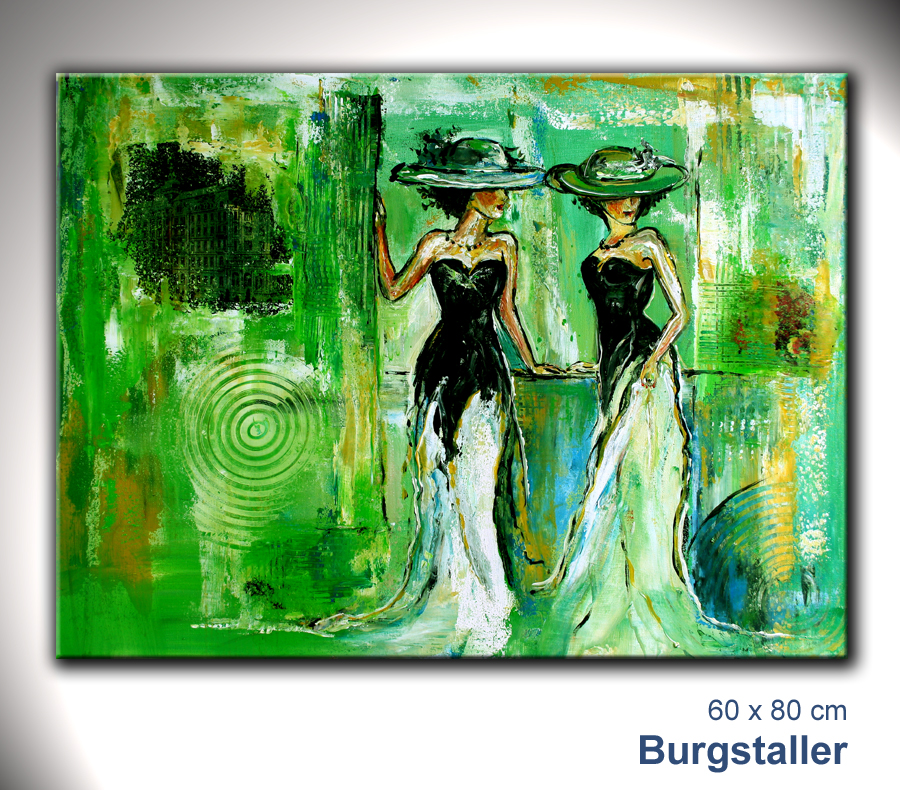 Burgstaller abstrakt gem lde original bild kunst malerei - Leinwandbilder moderne kunst ...