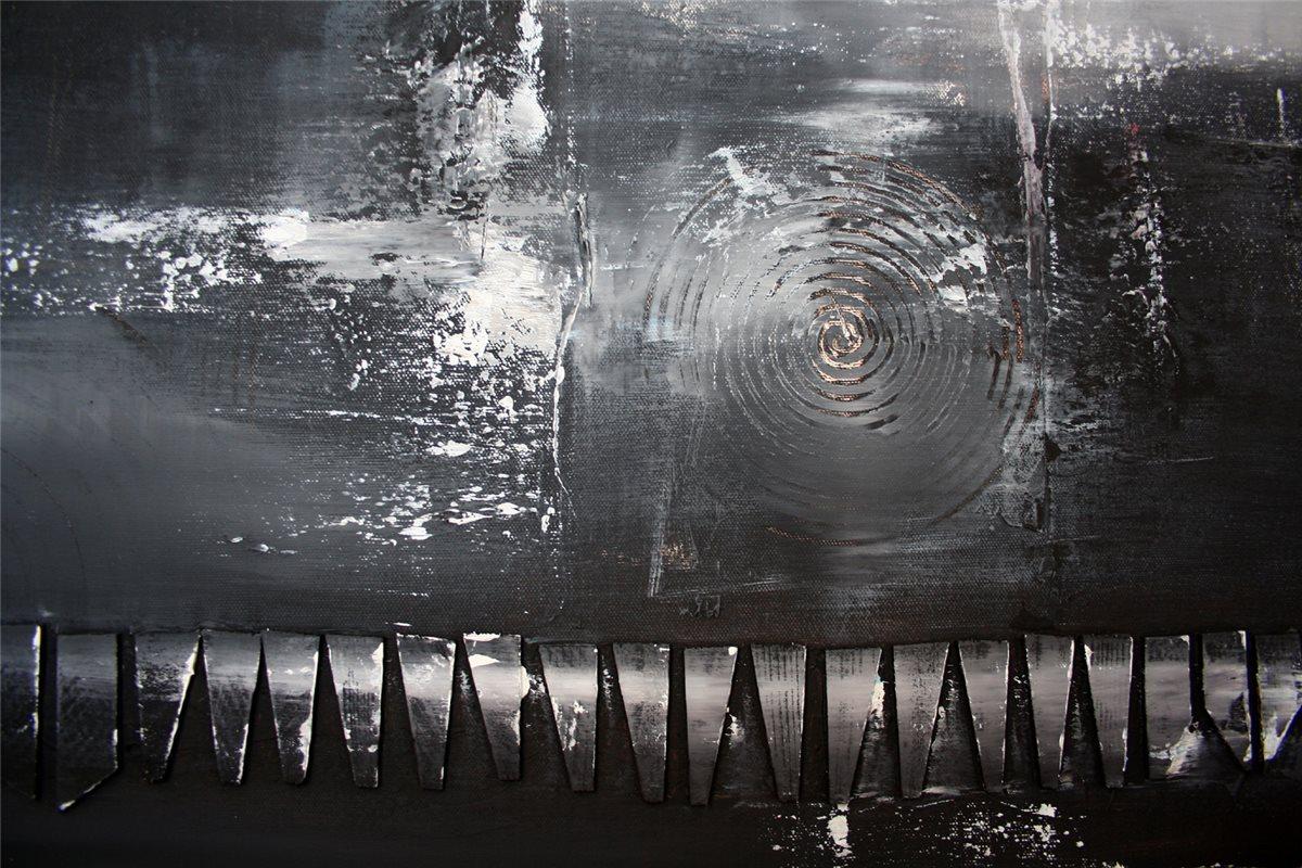 burgstaller original gem lde abstrakt grau schwarz wei acrylbild struktur barr ebay. Black Bedroom Furniture Sets. Home Design Ideas
