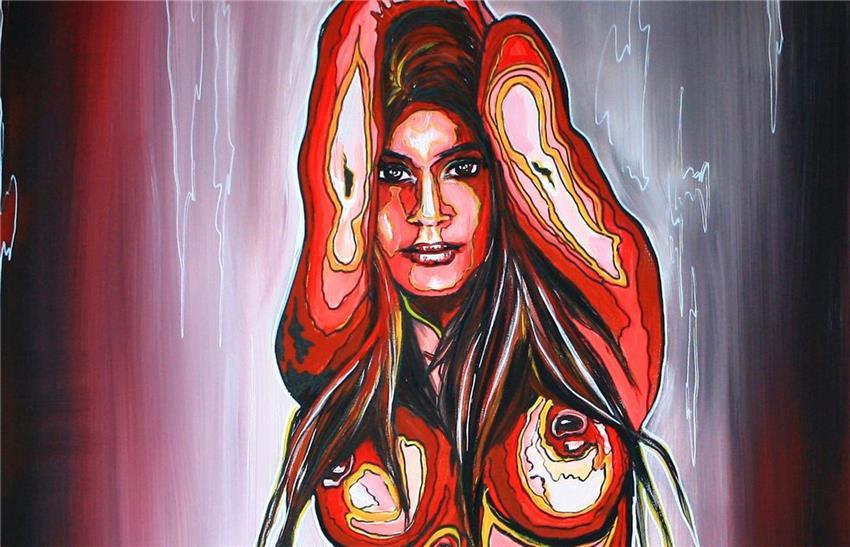 BURGSTALLER Erotische Malerei Acryl Gemälde Bilder Kunst